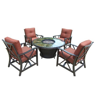 Moonlight 5 Piece Deep Seating Group with Cushions