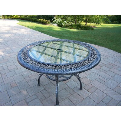 Patio Dining Table Finish: Antique Pewter