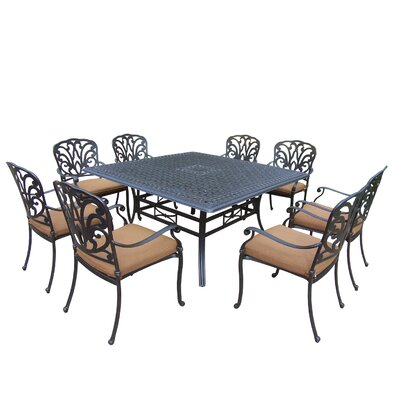 Bosch Square 9 Piece Dining Set with Cushions