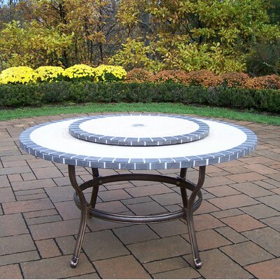 Stone Art Coffee Table with Lazy Susan Finish: Antique Bronze