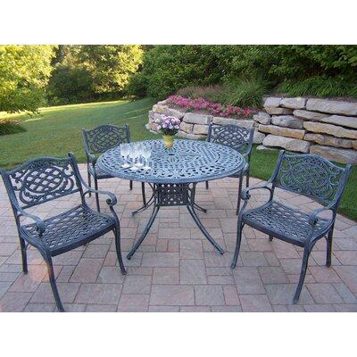 Capitol Mississippi 5 Piece Dining Set Finish: Verdi Gray