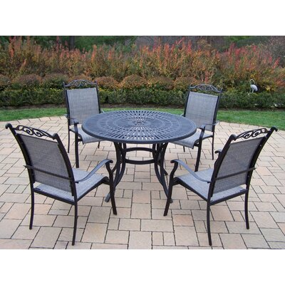 Sunray 5 Piece Dining Set Finish: Black