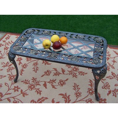 Tea Rose Coffee Table Finish: Antique Pewter