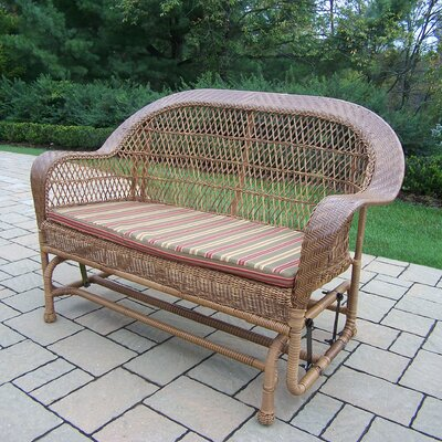 Coventry Wicker Glider Finish: Natural