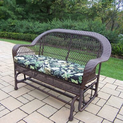 Coventry Wicker Glider Finish: Coffee