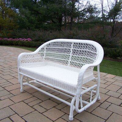 Coventry Wicker Glider Finish: White