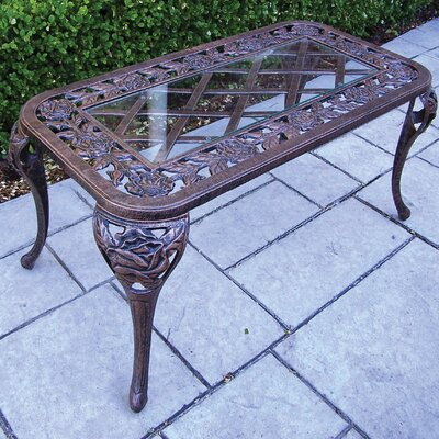 Tea Rose Coffee Table Finish: Antique Bronze