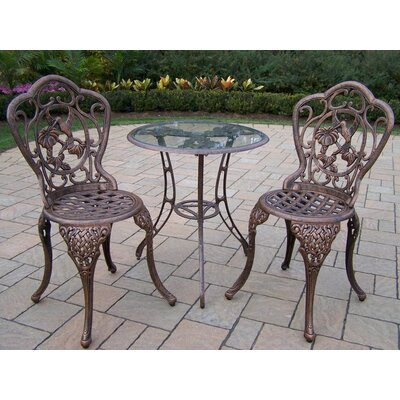 Hummingbird 3 Piece Bistro Set Finish: Antique Bronze