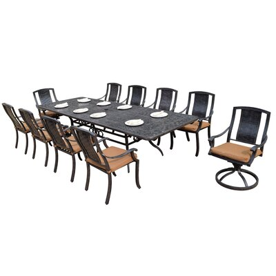 Vanguard 11 Piece Dining Set with Cushions