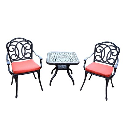 Berkley 3 Piece Dining Set with Cushions