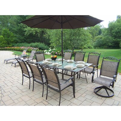 Oakland Living Cascade 14 Piece Dining Set with Umbrella at Sears.com