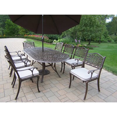 Mississippi Dining Set Cushions And Umbrella picture
