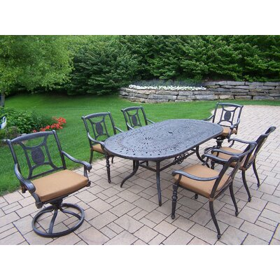 Victoria 7 Piece Dining Set with Cushions