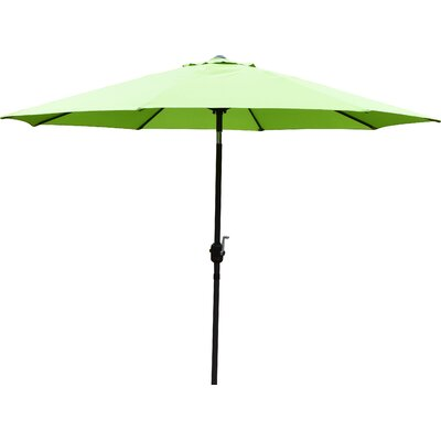 9 Market Umbrella Base Finish: Black, Color: Green