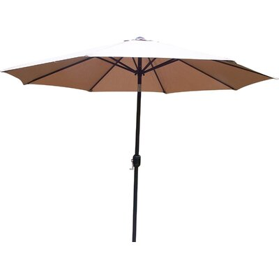 9 Market Umbrella Base Finish: Black, Color: Champagne
