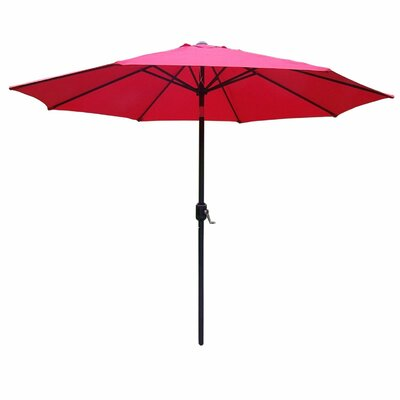 9 Market Umbrella Base Finish: Brown, Color: Red