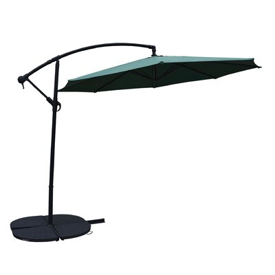 10 Cantilever Umbrella Frame Finish: Black