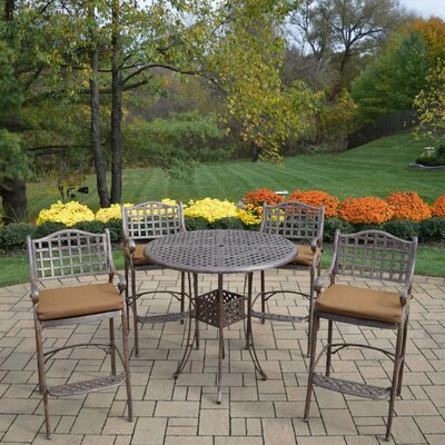 Braddock Fade Resistant 5 Piece Cast Aluminum Bar Set