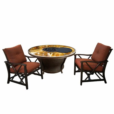 Paxtonville 6 Piece Conversation Set with Cushions Finish: Black