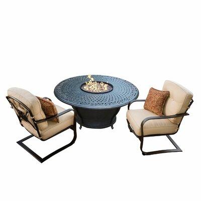 Owego 5 Piece Aluminum Conversation Set with Cushions