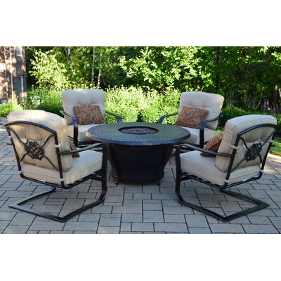 Owego 6 Piece Conversation Set with Fabric Cushions