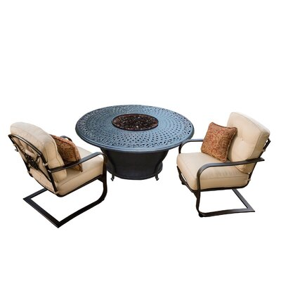 Owego 6 Piece Rust-Resistant Aluminum Conversation Set with Cushions