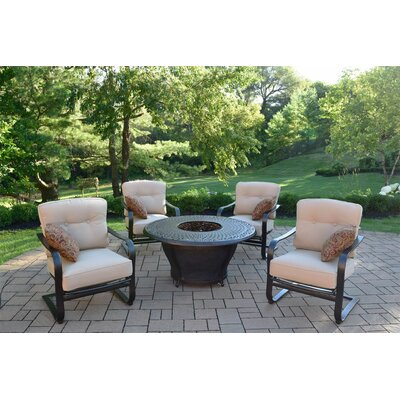 Owego 8 Piece Rust Resistant Aluminum Conversation Set with Cushions