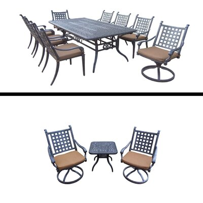 Arness 12 Piece Black Dining Set and Bistro Set