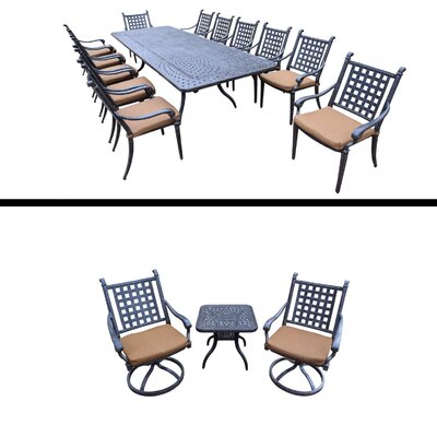 Arness 16 Piece Dining Set and Bistro Set