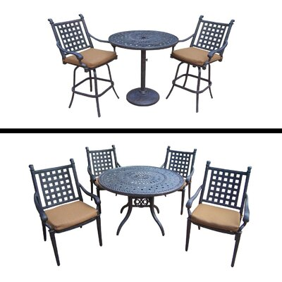 Arness 8 Piece Dining Set and Bar Set