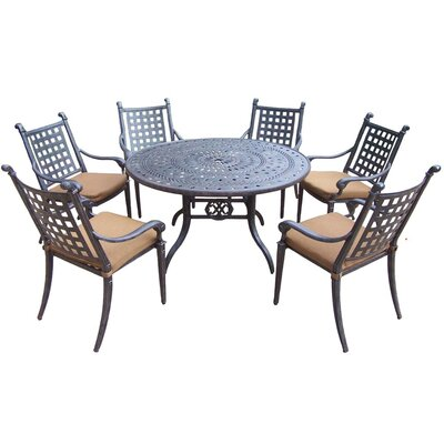 Arness 10 Piece Metal Dining Set and Bar Set