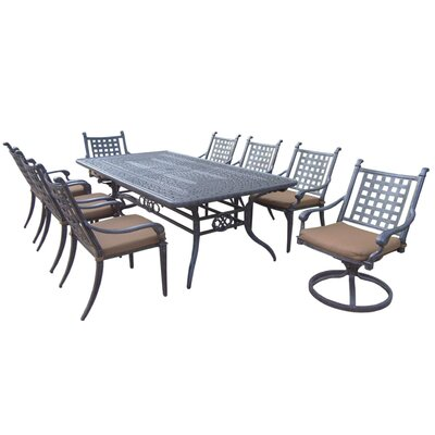Arness 12 Piece Black Dining Set and Bar Set
