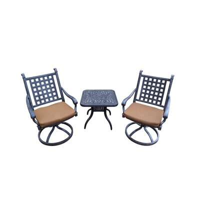 Image of Arness 12 Piece Metal Dining Set and Bistro Set