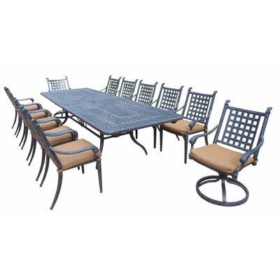 Arness 16 Piece Metal Dining Set and Lounge Set