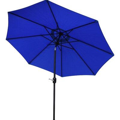 9 Market Umbrella Base Finish: Black, Color: Blue