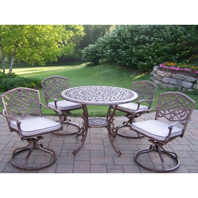 Mississippi Swivel 5 Piece Dining Set with Cushions
