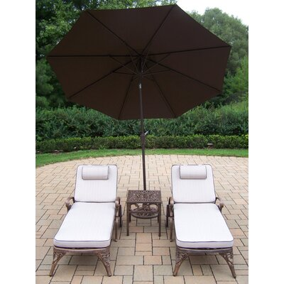 Mississippi 5 Piece Lounge Seating Group Set Umbrella Fabric: Brown