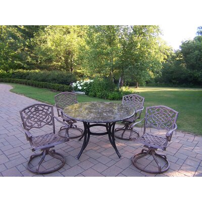 Stone Art Swivel Dining Set