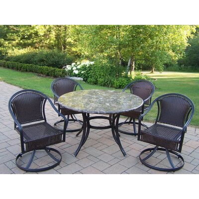 Stone Art 5 Piece Tuscany Swivel Dining Set