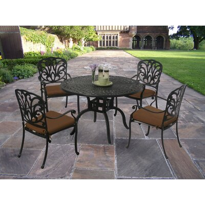 Bosch Powder Coated 5 Piece Dining Set with Cushions