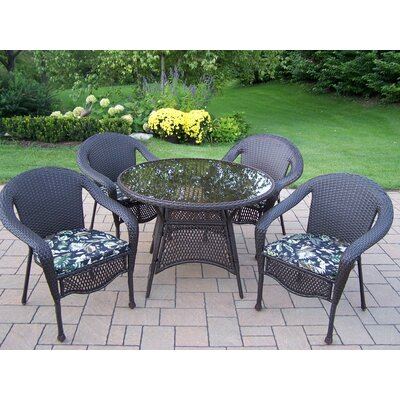 Oakland Living Elite Resin Wicker 5 Piece Dining Set with Cushions at Sears.com