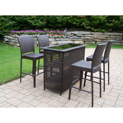 Oakland Living Elite Resin Wicker 5 Piece Bar Set at Sears.com
