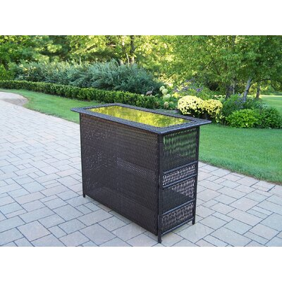 Elite Resin Wicker Home Bar