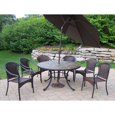 Stone Art Dining Set Umbrella Umbrella 2664 Product Photo