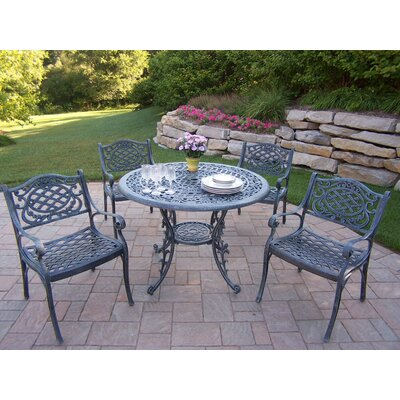 Mississippi 5 Piece Dining Set Finish: Verdi Grey