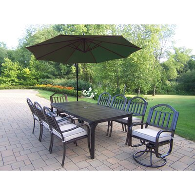Rochester Swivel 10 Piece Dining Set