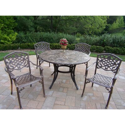 Stone Art 5 Piece Dining Set