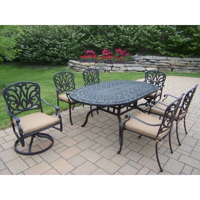 Bosch Powder Coated 7 Piece Dining Set with Cushions