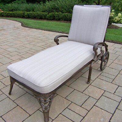 Mississippi Chaise Lounge Finish: Antique Bronze