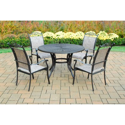 Sunray 5 Piece Dining Set Finish: Coffee
